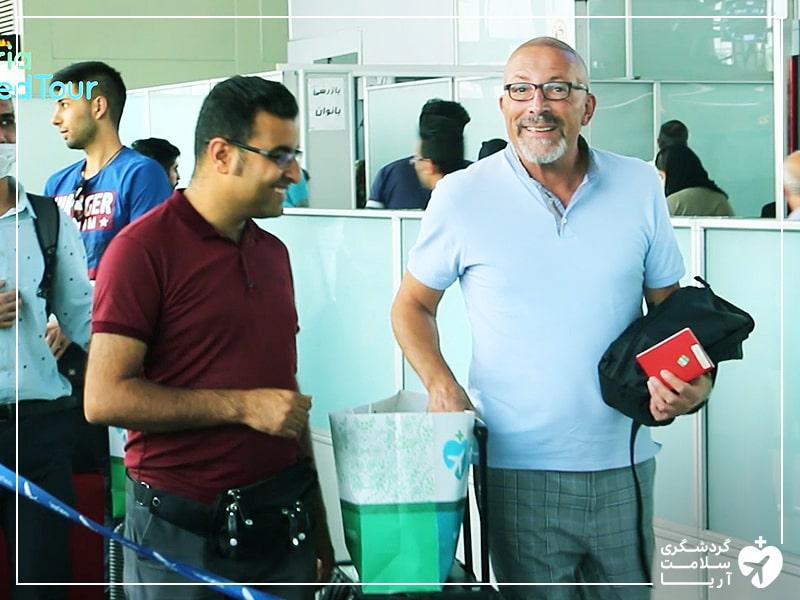 استقبال از گردشگر سلامت در فرودگاهایران توسط شرکت آریامدتور