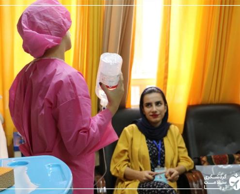 گردشگر سلامت در بیمارستان پاستور نو ایران همراه با مترجم درمانی آریامدتور