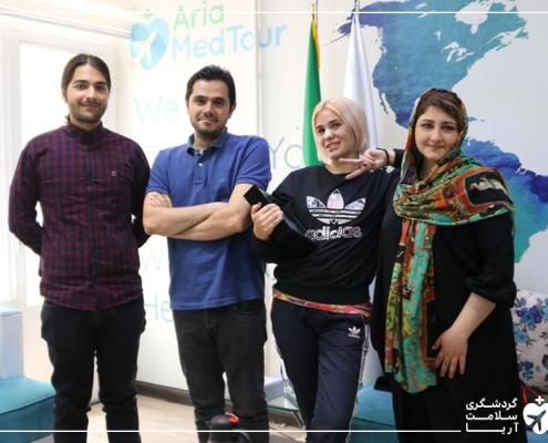 تیم آریامدتور و مسافر درمانی در دفتر استارتاپ مدیکال توریسم آریا