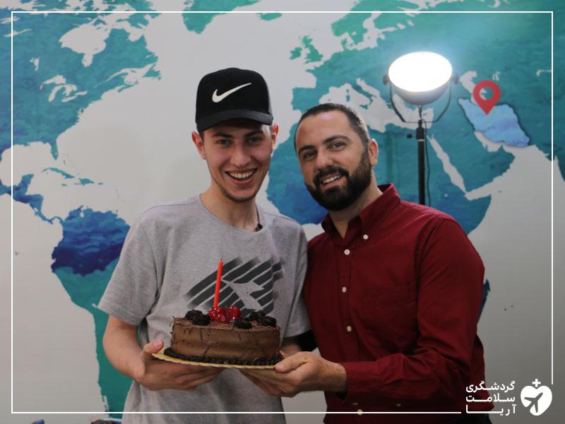 توریست سوری در ایران در روز تولدش