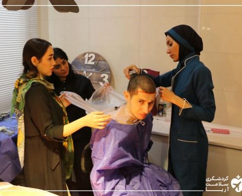 دانشجوی فلسطینی برای کاشت مو در ایران
