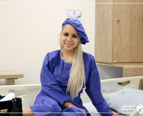 توریست خارجی در بیمارستان تندیس تهران