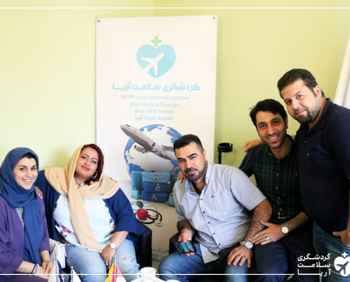 زن اهل لیبی برای جراحی چاقی در دفتر شرکت گردشگری سلامت آریا
