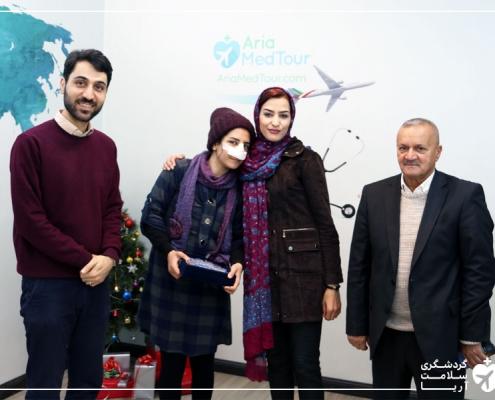 عمل جراحی بینی دختر عراقی در تهران
