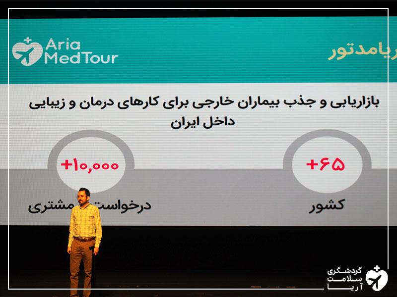 سخنرانی بنیانگذار شرکت گردشگری سلامت آریا در یلدا سامیت