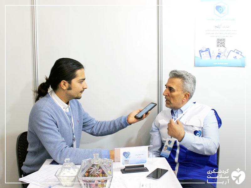 مصاحبه با احمد سلیمانی زاده بنیانگذار شرکت تیپ طب در دورهمی کارآفرینان استارتاپی