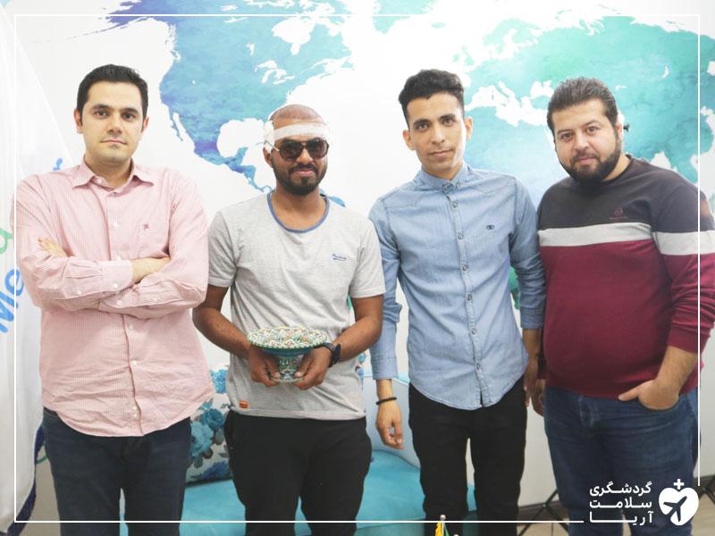 گردشگر عمانی در دفتر شرکت مدیکال توریسم آریا