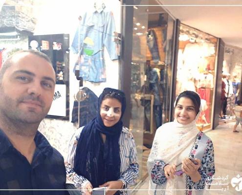 زن عرب و خواهرش در ایران پس از جراحی