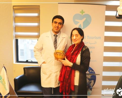 جراحی بینی دختر خارجی در ایران
