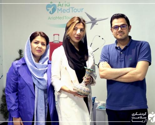 عمل جراحی زن خارجی در ایران