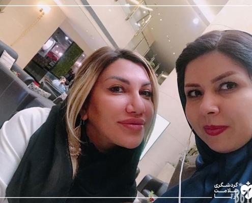 زن خارجی در تهران برای جراحی
