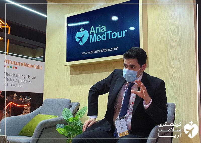 محمد نصری، مدیرعامل آریامدتور در چهلمین نمایشگاه جیتکس 2020 دبی