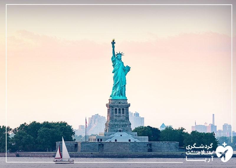 مجسمه آزادی در کشور آمریکا