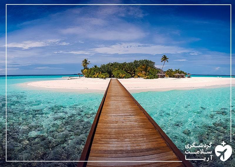 نمایی از سواحل مالدیو که در انتظار ورود گردشگران است