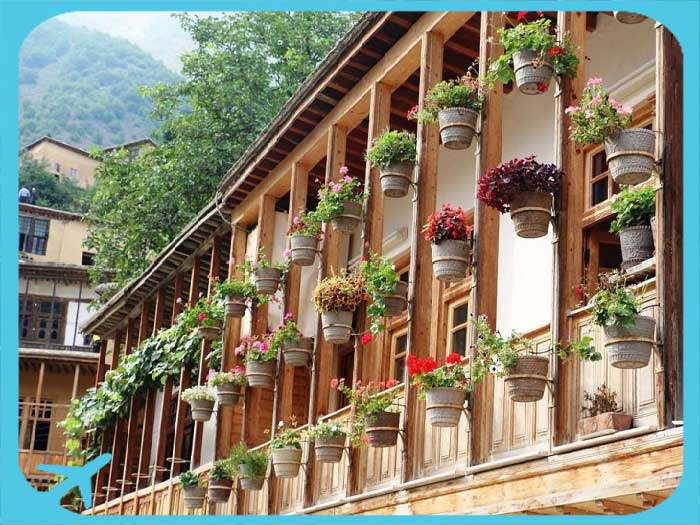 gilan nature gilan houses decorated with flower vases