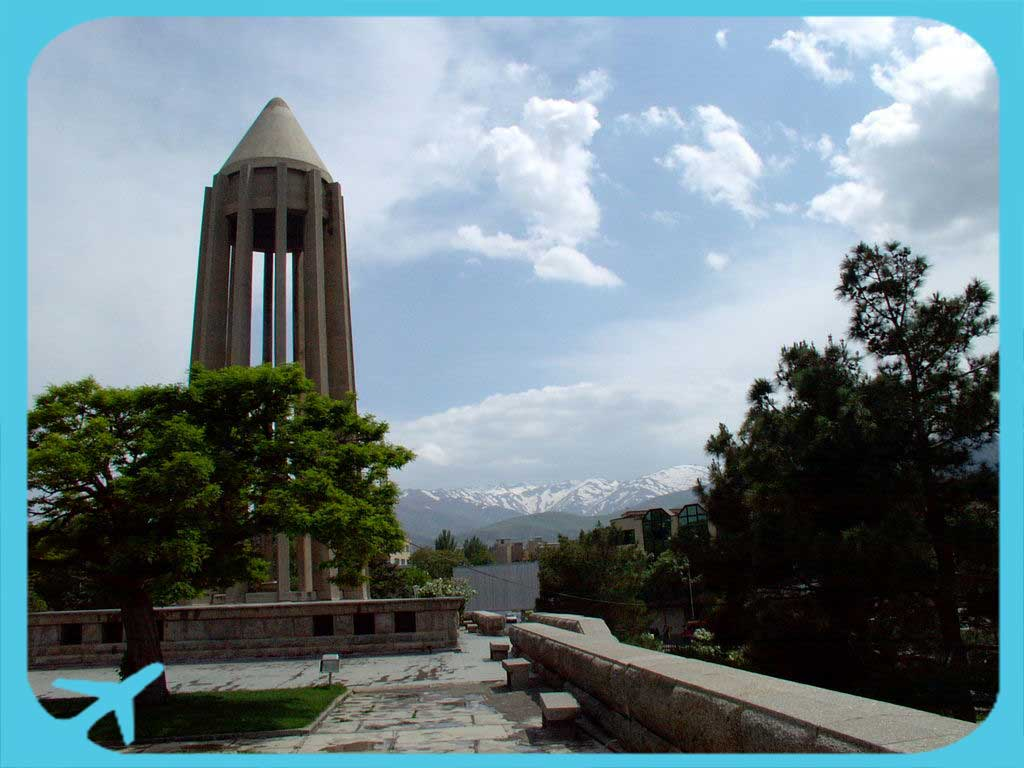 Avicenna tomb and garden in Hamedan