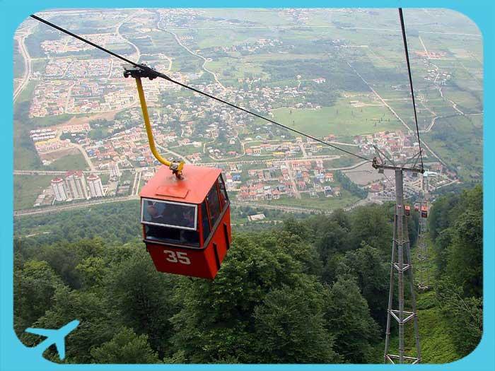 gondola lift in Ramsar mazandaran
