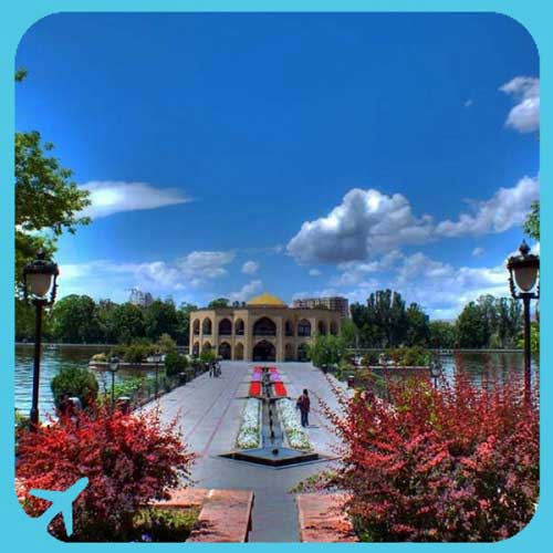 ilgoli garden and lake in tabriz