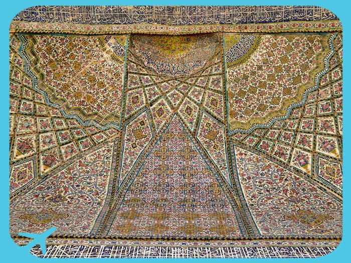 ceiling of vakil mosque shiraz