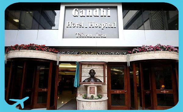 Gandhi hotel hospital doorway and entrance