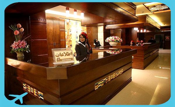 Reception and information department of Gandhi hotel hospital