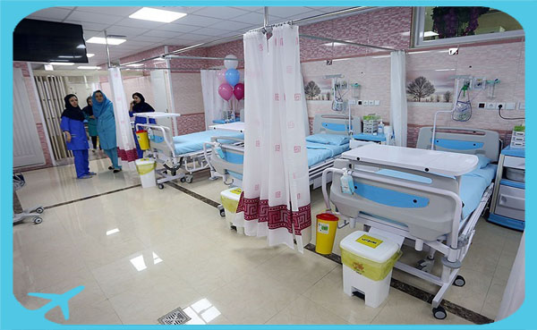 maternity unit in Moheb Mehr hospital prepared to take care of mother and baby after childbirth