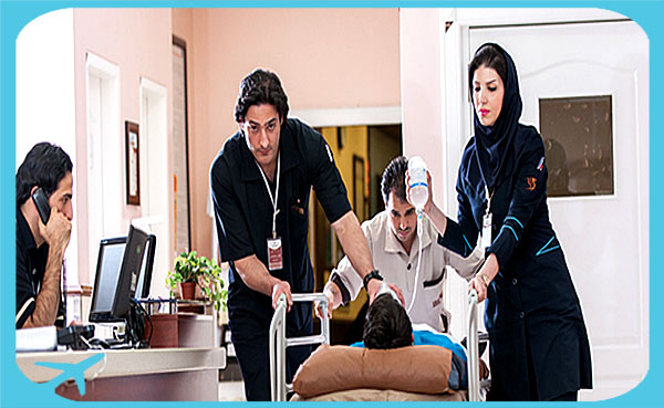 male and female medical staff in Nikan hospital