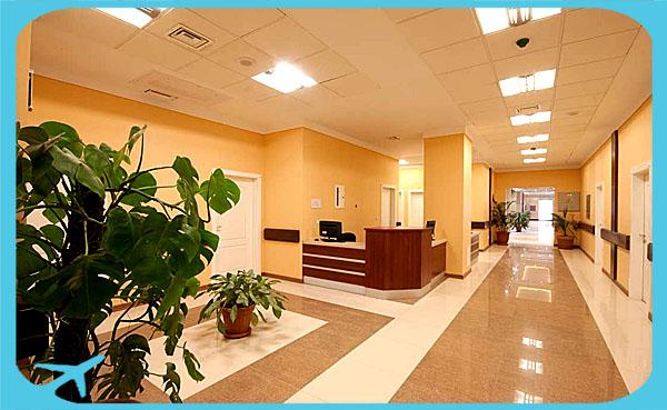 Nikan hospital corridor and station