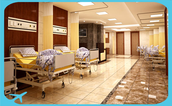 hospital beds in Nikan hospital