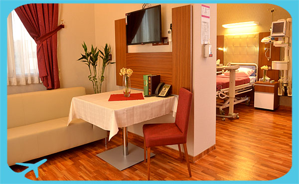 Razavi hotel hospital equipped with furniture and medical facilities