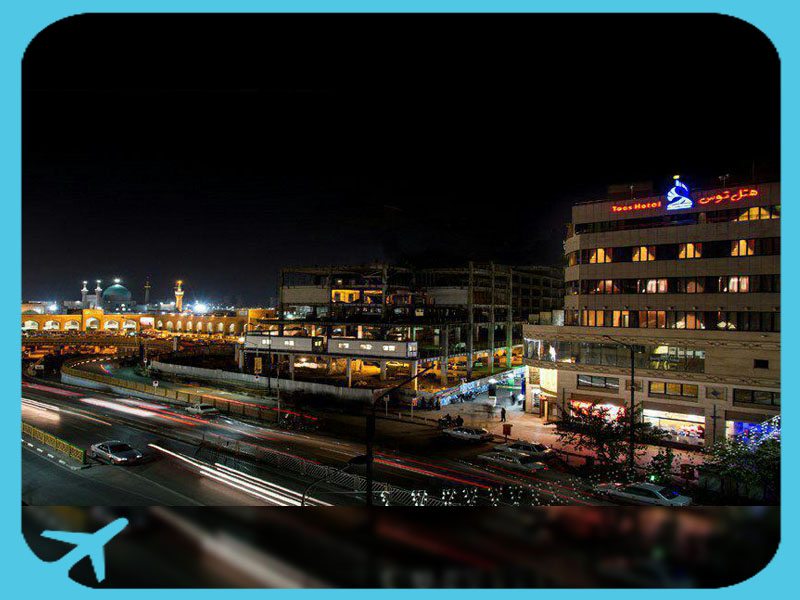 toos hotel mashhad iran - night view
