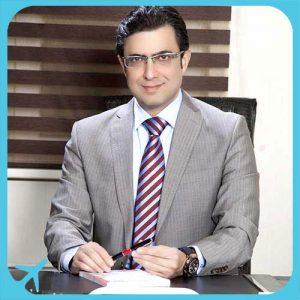 Dr Rezaei iranian surgeon at his office