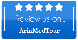 rectangular review icon to share opinion about AriaMedTour