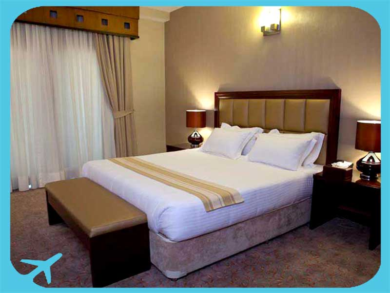 twin bed rooms in marina park hotel iran tehran