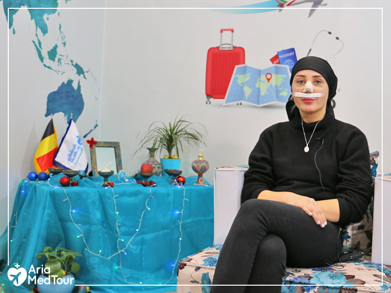 One of our patients who scheduled her nose job in Iran during Nowruz