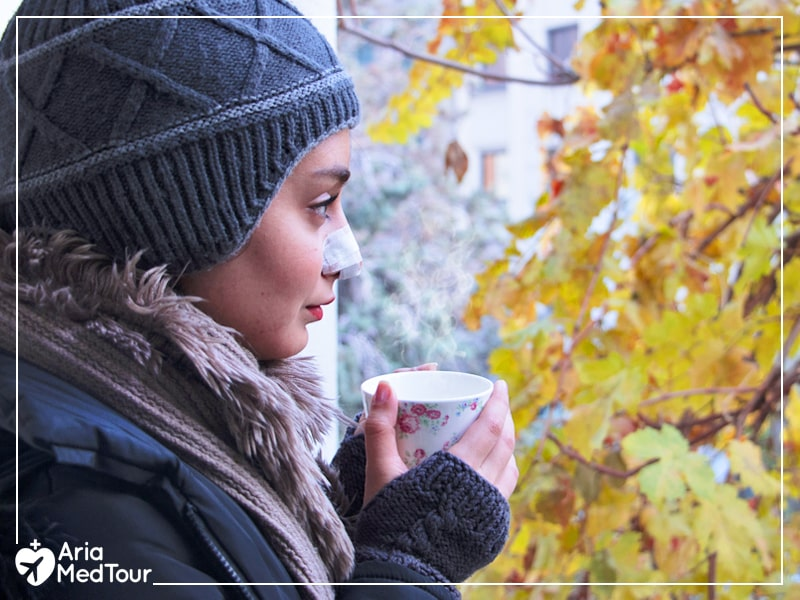 Enjoy a peaceful rhinoplasty recovery during the winter.