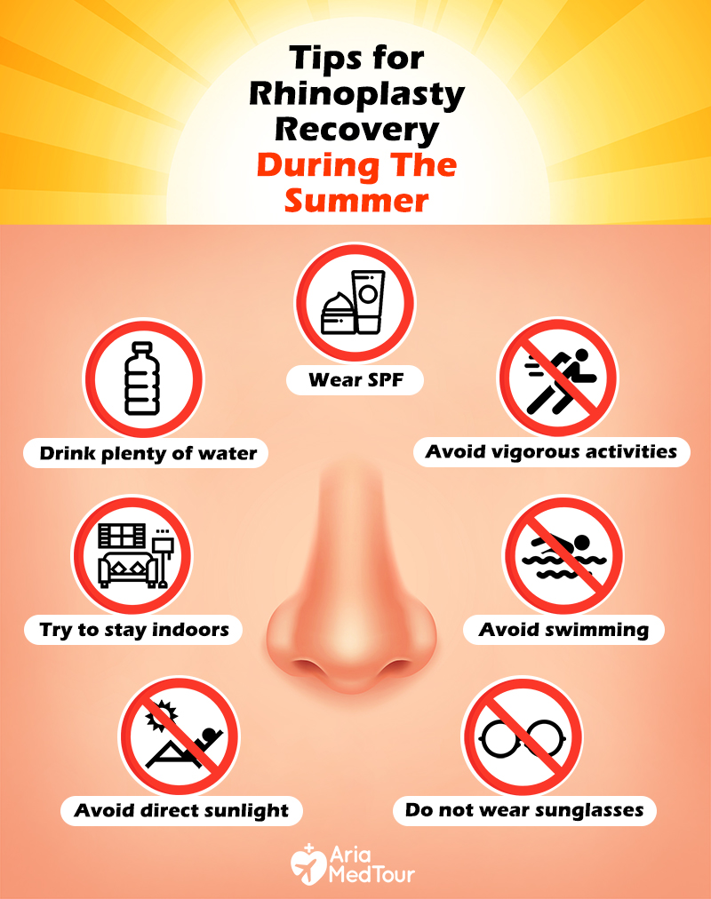 7 Tips to have an effective rhinoplasty recovery during the summer