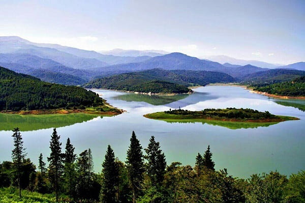 mountains and lakes in Mazandaran Province