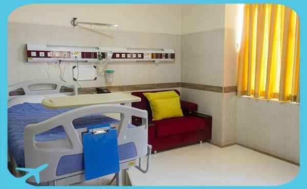 patients' rooms in Mustafa hospital