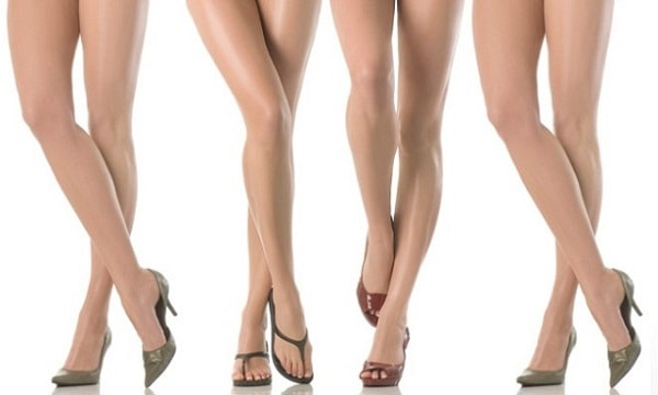 women showing off their toned lower legs