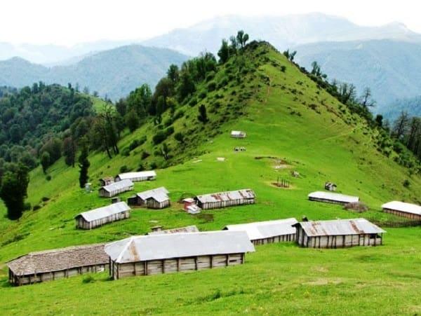 greenery mountains in north of iran gilan