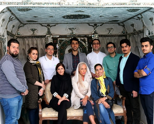 AriaMedTour staff and australian patient sightseeing Tehran tourist attraction
