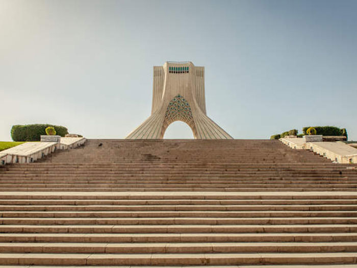 azadi tower in azadi square - above view