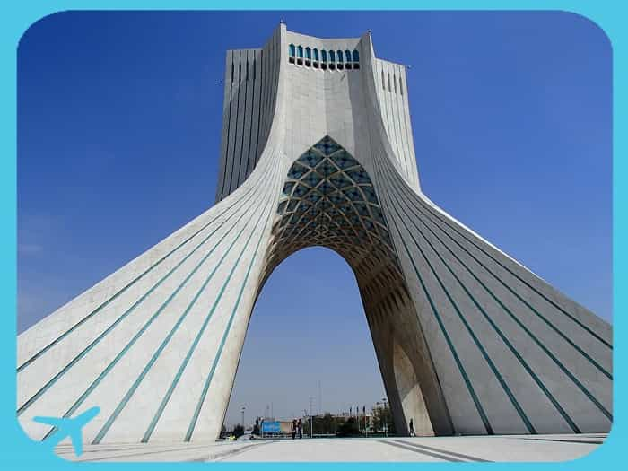 Azadi tower on Azadi square in Tehran