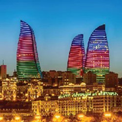 medieval walled old city in baku