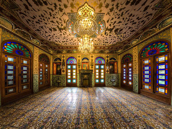 golestan palace in tehran in a cloudy day