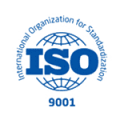 logo of ISO in blue