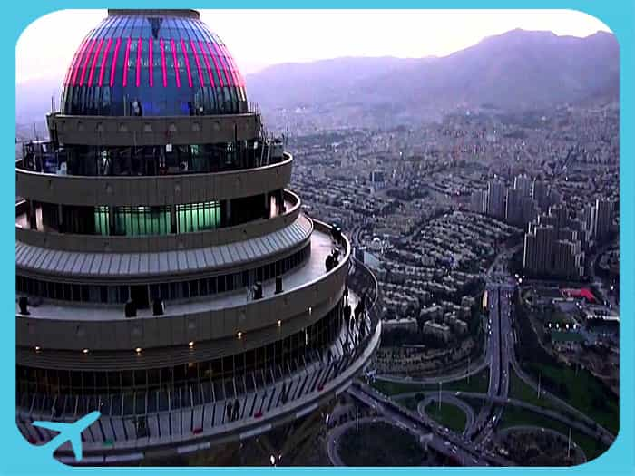 Milad tower tallest building in Tehran