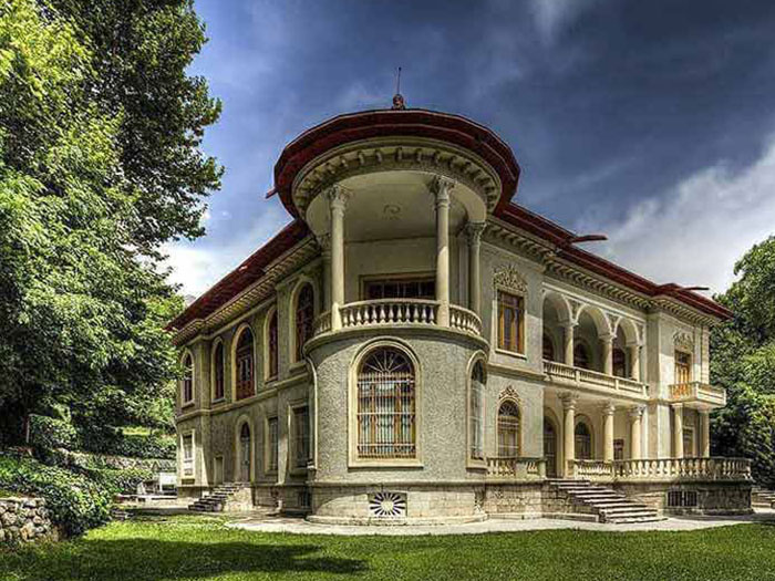 Saadabad palace building and garden in Tehran
