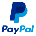blue logo of paypal